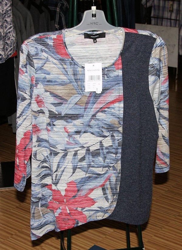 Damen  Komfort RH-Shirt 3/4 multicolor,blue com.H-2021
