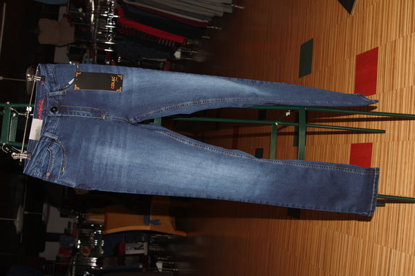 Colac  Damen-Jeans, Jenny blue black denim ,Higwaisth, blacke Denim,  schmales Bein