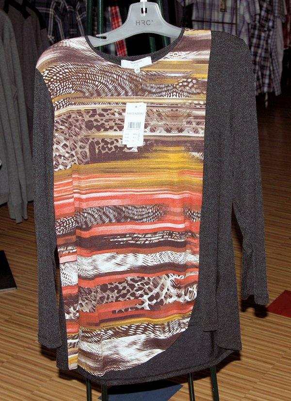 Damen  Komfort RH-Shirt 1/1 multicolor,com.anthrazit,H-2021