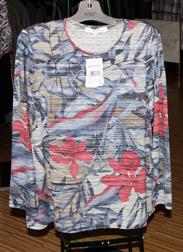 Damen  Komfort RH-Shirt 1/1 multicolor,blue com.H-2021